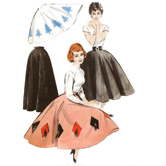 Butterick 7150 - 1950s Festive Circle Skirt Pattern