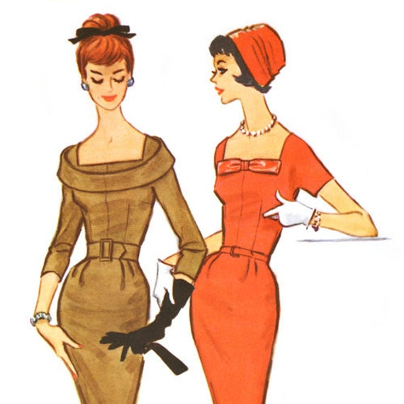 FF Vintage 1950s Sheath Dress Pattern McCall's 5096 Bust 34