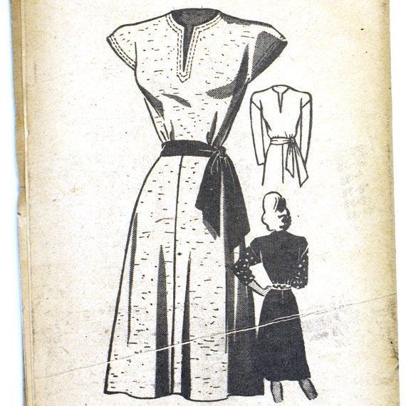 Anne Adams 4527 Misses 1950s Dress Pattern Bust 38 Cap Sleeve V Neckline 50s Mail Order Vintage Sewing Pattern UNCUT