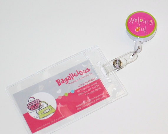 Clear Vertical Badge Holder for use with Badge Reels