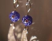 Blue Paisley Earrings