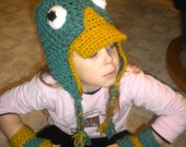 Handmade Perry the Platypus crochet hat (Phineas and Ferb)