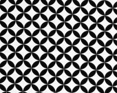 Alexander Henry DIAMOND EYE fabric - black white - 1 yard