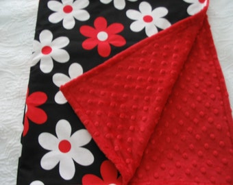 Red Plain Jane  Blanket and Travel Pillow
