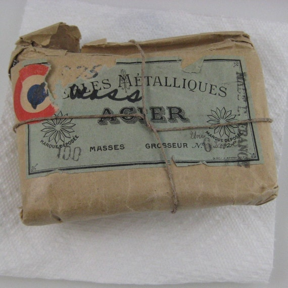 Fabulous Antique French steel Micro seed beads tiny size