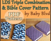 LDS Triple Combination and Bible Cover PDF Pattern/ Tutorial