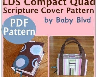 PATTERN/ Tutorial for Compact Quad Scripture Cover