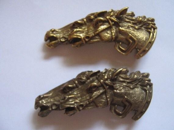 Vintage Brass Belt Buckles Vintage Gucci 2 Brass Belt