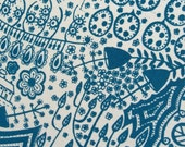 teal plantlife - original screenprinted art