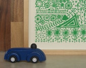 leaf green plantlife - original screenprinted art