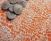 scratch - screenprinted fabric in orange zest