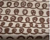 twist - screenprinted fabric in milk chocolate