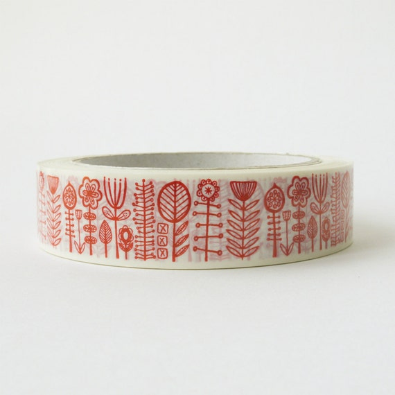 bloomsbury decorative sticky tape in red