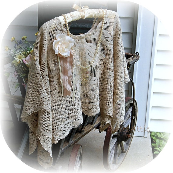 Lace Shawl Idea for Hospital Patient, Get Well, Chemo, Nursing, Post Surgery