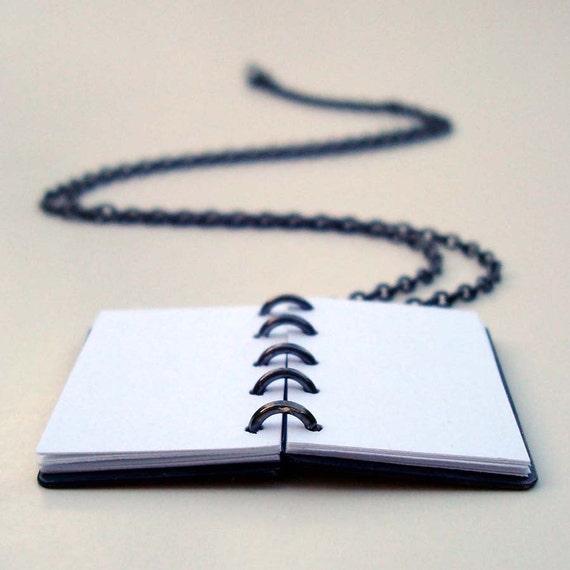 Handmade Miniature Copper Book Pendant