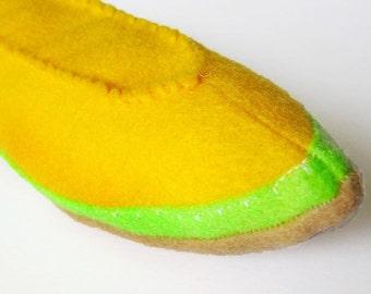 Felt Food Cantaloupe Fruit Toy