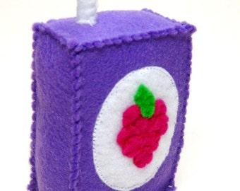 Felt Food Juice Box - Grape