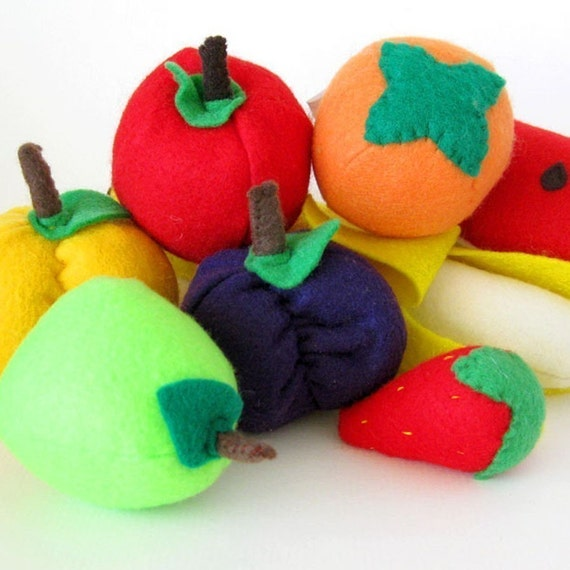 Felt Play Food Orchard Fruit Toy Set