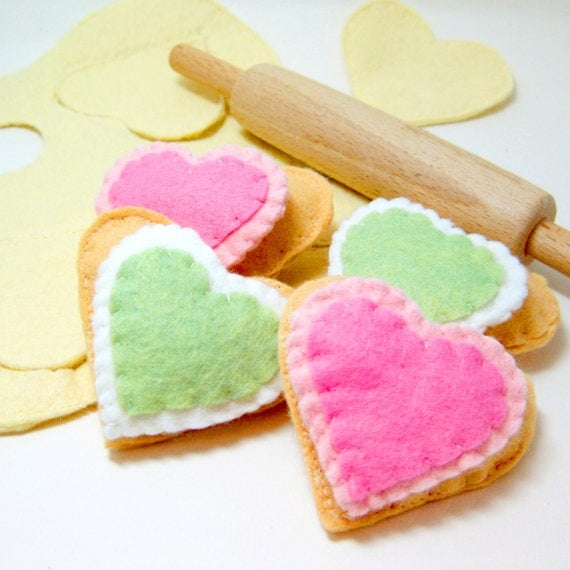 CYBER MONDAY SALE 20% off Wool Felt Food Sugar Cookie and Baking Set