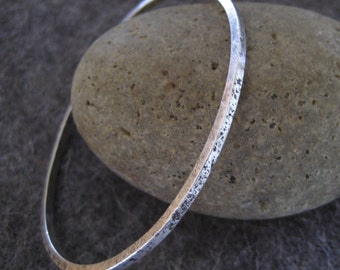 Sterling Silver Bangle Bracelet Organic Texture