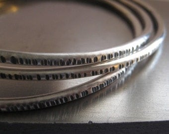 Fresh Silver Sterling Silver Bangle Bracelet