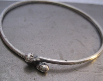 KISS Sterling Silver Bangle Bracelet