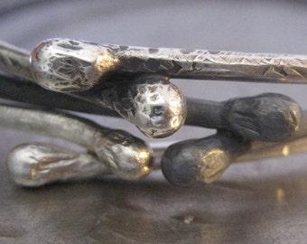 TRE Sterling Silver Bangle Bracelets
