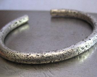 Ultra Chunky Wabi Sabi Cuff/Sterling Silver Bracelet