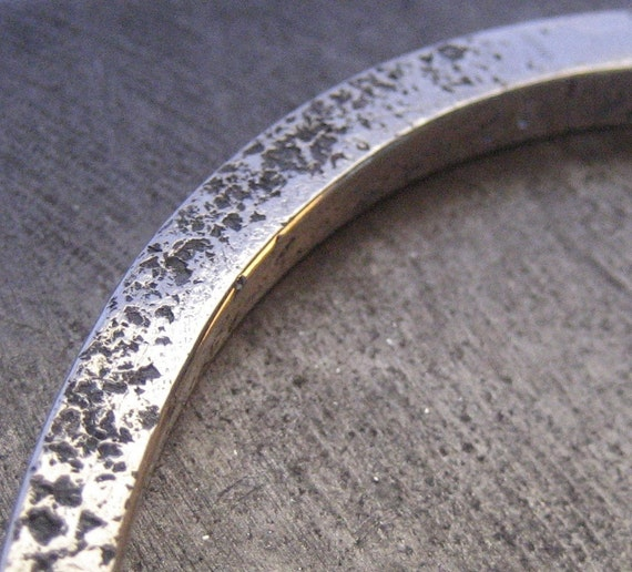 SHE Bangle Chunky Sterling Silver Bracelet