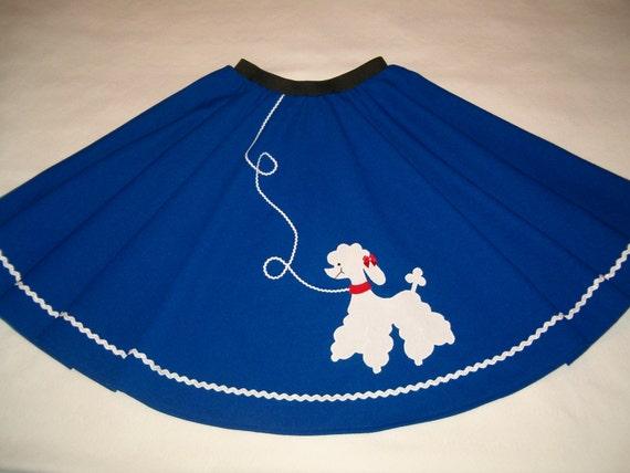 royal blue poodle skirt or