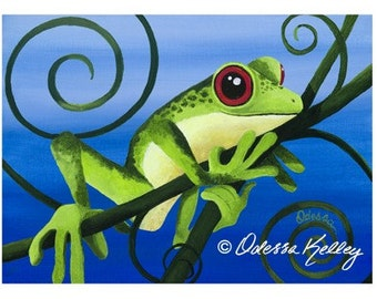 Popular Items For Whimsical Frogs On Etsy