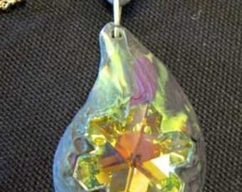 Swarovski crystal and polymer pendant
