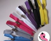 7 Tiny splitting (open ended, separate, separating) zippers for doll clothing - 7 colors, 7.5cm or 3inches - Blythe Pullip Momoko BJD