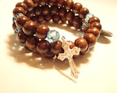 Wooden Rosary Wrap - Full Decade