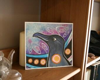 Original Signed Artwork Sooty Albatross as Totem Animal