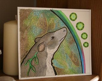 Original Signed Artwork Grizzled Tree Kangaroo as Totem Animal
