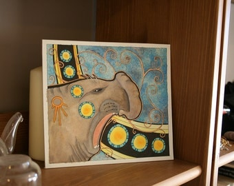 Original Art Elephant Seal Totem