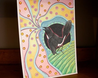 Original Cheerful Willie Wagtail as Totem