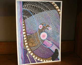 Original Listening Lyrebird as Totem
