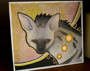 Original Solitary Aardwolf as Totem