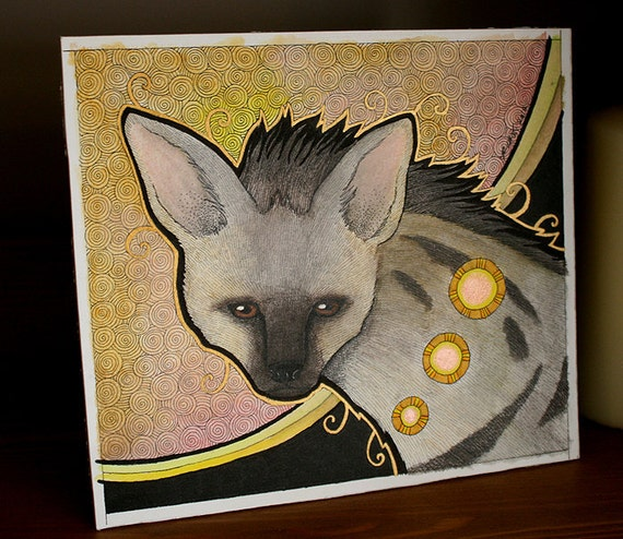 Original Solitary Aardwolf as Totem