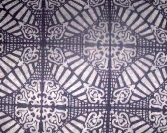 Victorian Cathedral Tile Design Purple Burnout Knit Fabric BTY
