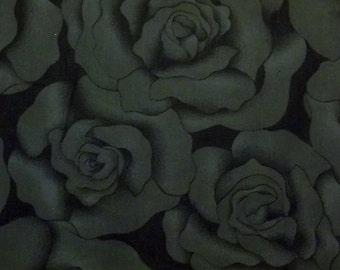 "TIMELESS TREASURES black rose quilt fabric c6562 ""HUE"""