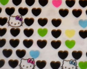HELLO KITTY Cat Colorful Heart Fabric Diy-Punk BTY