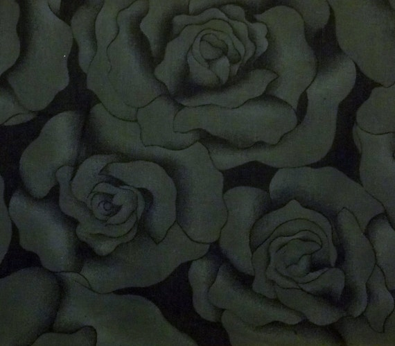 "TIMELESS TREASURES black rose quilt fabric c6562 ""HUE"""
