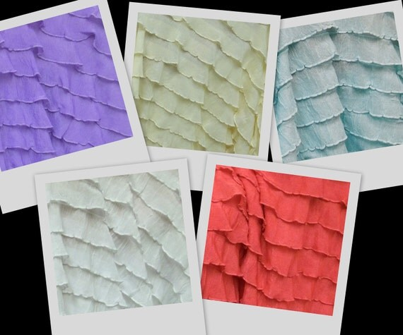 RUFFLES small ruffle nylon spandex stretch fabric BTY avail in 11 colors