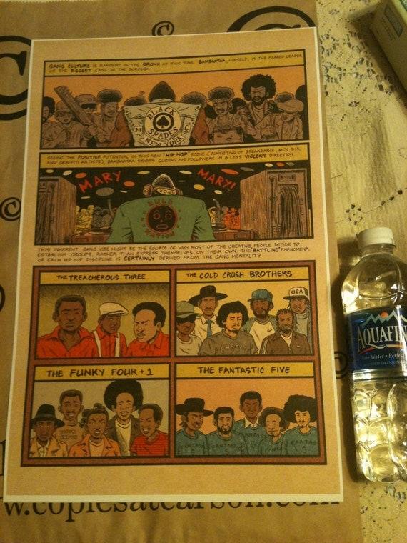Hip Hop Family Tree, DJ Kool Herc Spawns A New Culture Page 2, 11 x 17 digital print on 110lb. cardstock