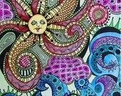 Psychedelic Seaside, Singleton Hippie Art, The Original