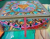 Eye Candy, Singleton Hippie Art, Cigar Box