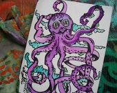 Goth Octopus Garden, The little Blank Journal, Singleton and Singleton Art